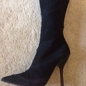 Vicini Suede Stiletto Knee-high Boots